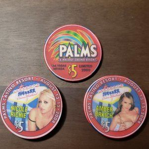 Palms Casino $5 Chips, Nicole Richie /Amber Brkich